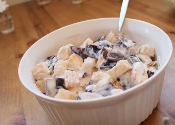jello salad in bowl