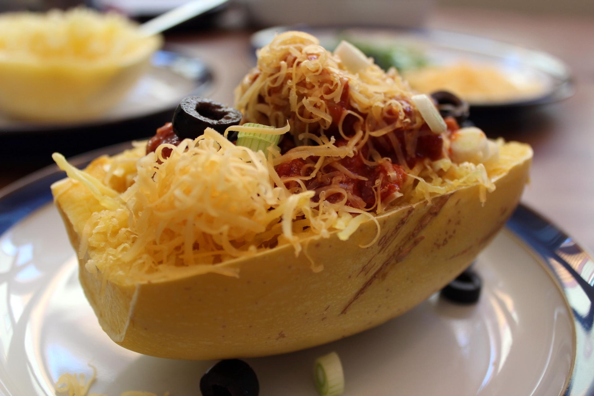 Chicken Enchilada Spaghetti Squash Bowls