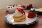 strawberry shortcake - almond flour and coconut whipped cream