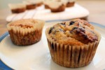 Blueberry Lemon Vanilla Coconut Flour Muffins