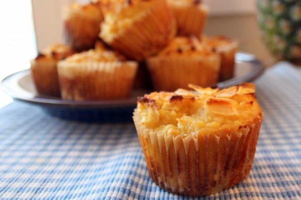 Pineapple Coconut Almond Flour Muffins