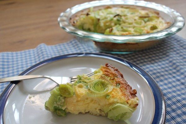Spring quiche grain free with leeks
