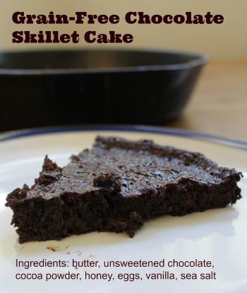 Grain Free Chocolate Skillet Cake
