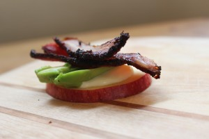 Bread Free open Faced Sandwich on Apple
