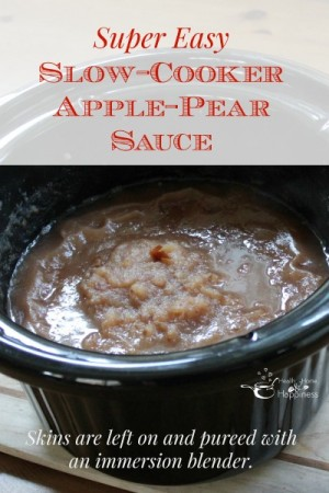 freezer to slow cooker easy apple pear sauce