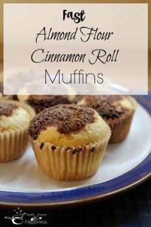 Almond flour cinnamon roll muffins