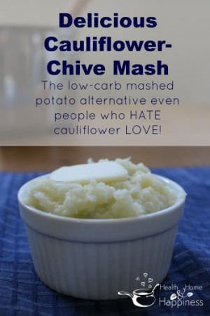 Cauiflower-chive mashed faux tatoes