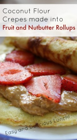 Coconut Flour Crepe - new healthy take on PB and J