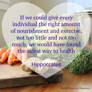 Nourishment and exercise for health