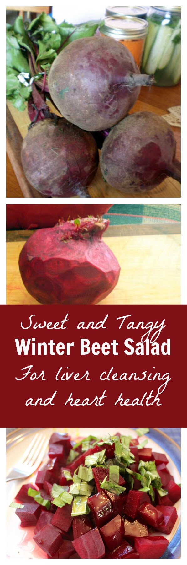 Winter Beet Salad with fresh ingredients