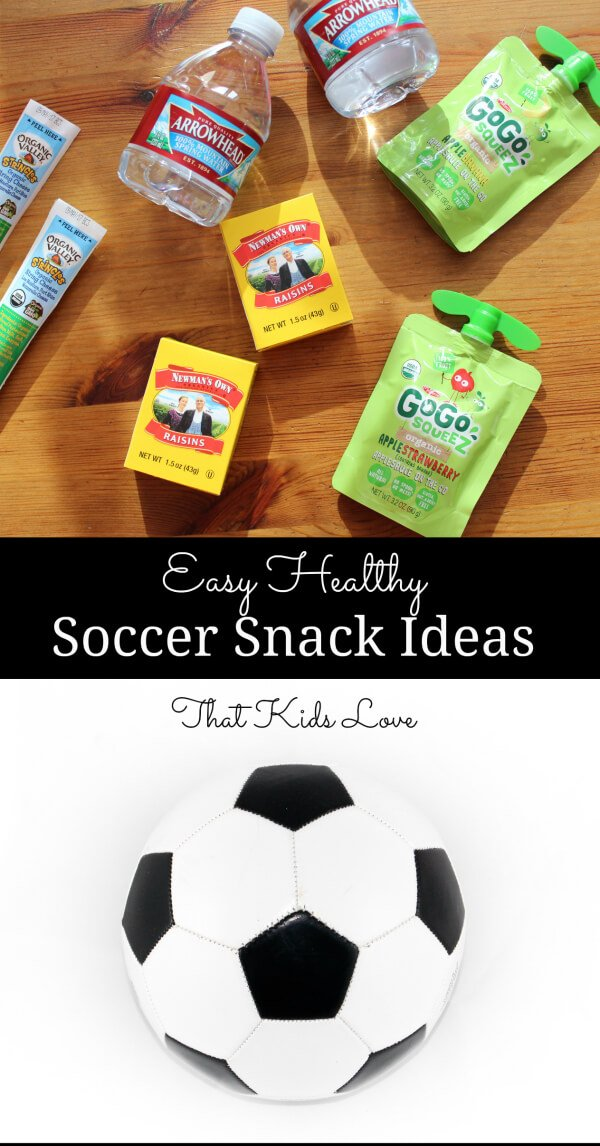 Easy healthy packaged soccer snack ideas that kids love