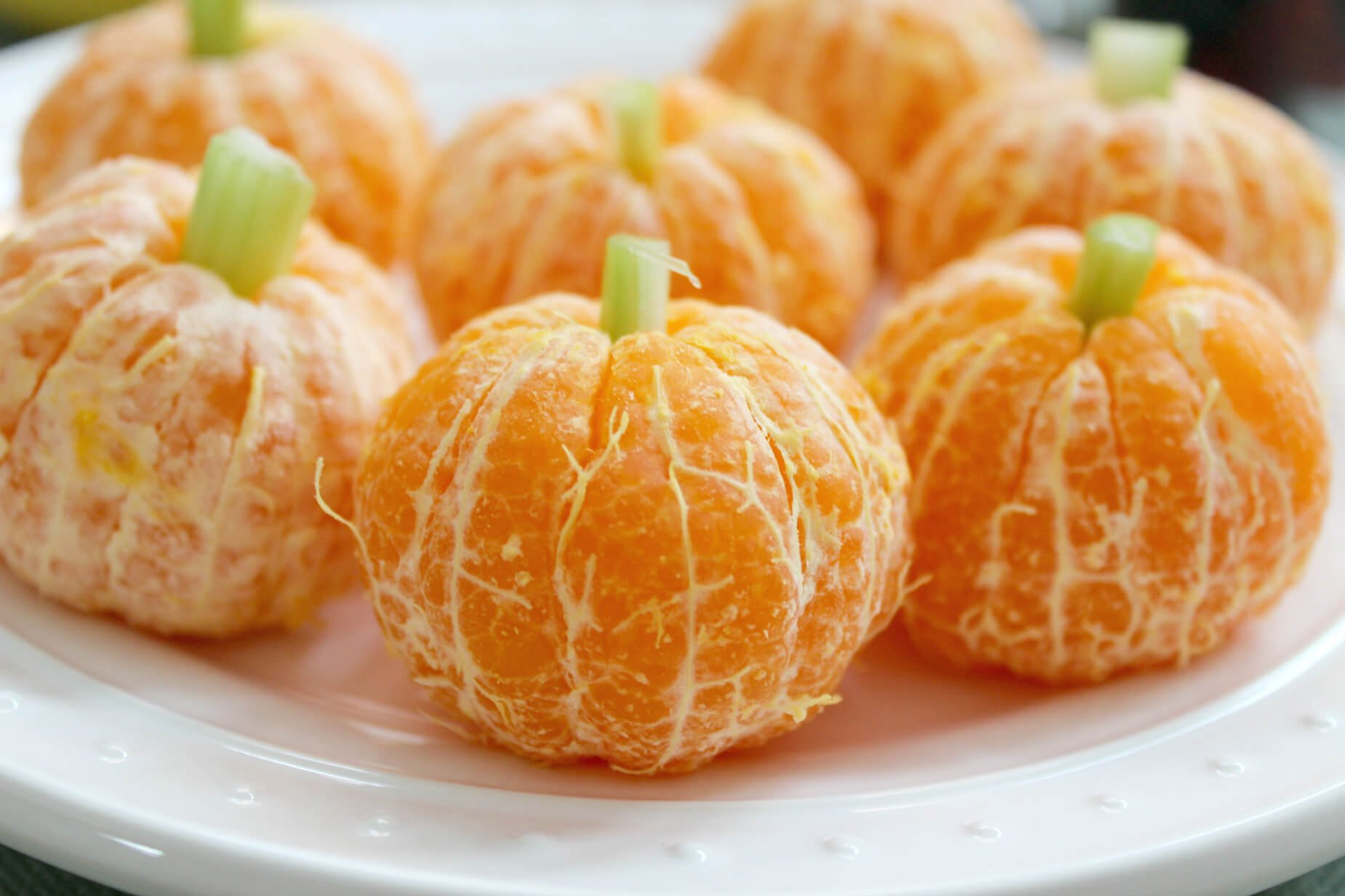 Friendly Clementine Pumpkins for Halloween
