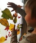 Wax Paper Autumn Leaf 'Stained Glass' (Easy and Beautiful Natural Fall Craft for Preschoolers)