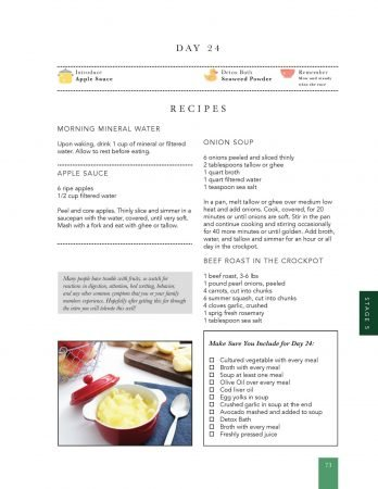 Sample page from the GAPS Introduction Diet Ebook