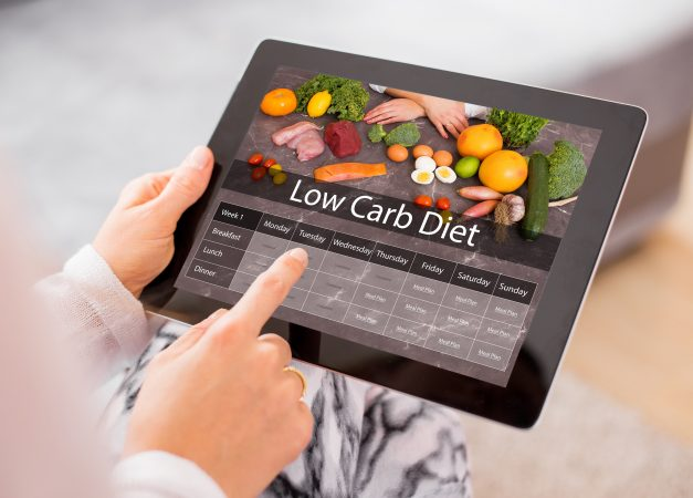 Low Carb Diet Meal Plan on Tablet to Know You are in Ketosis