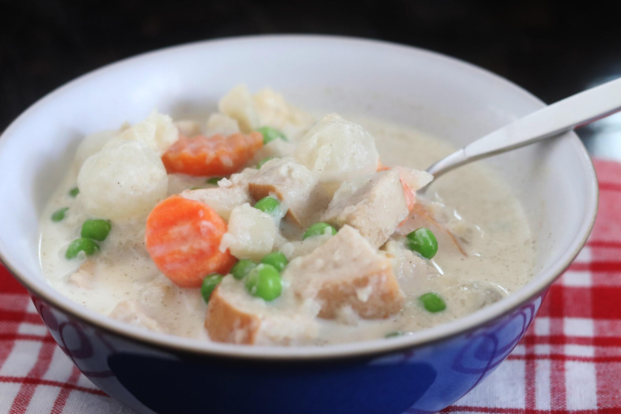 Keto Turkey Pot Pie Soup