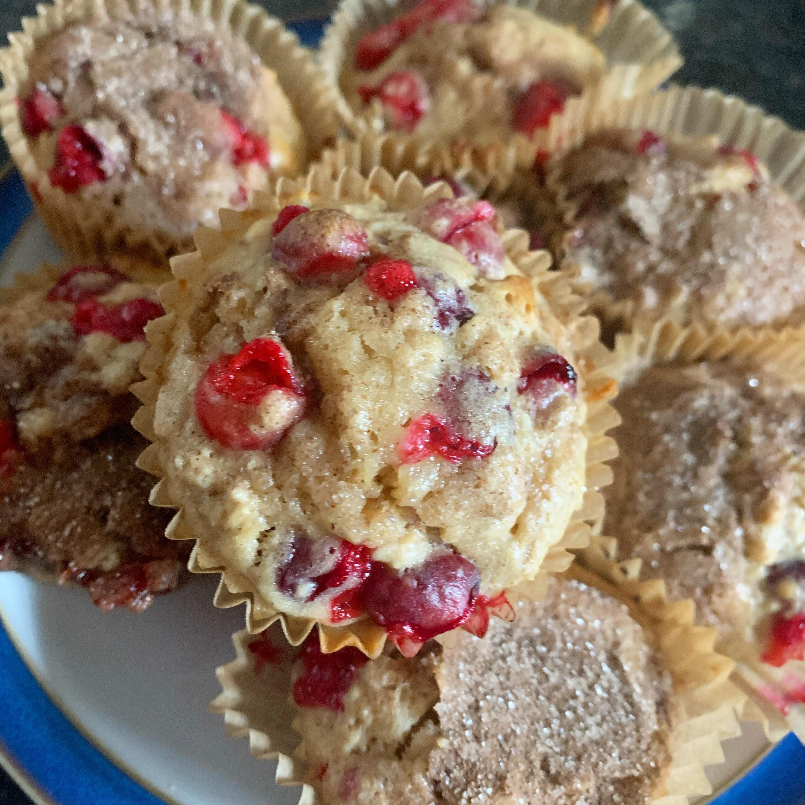 Classic Cranberry-Oat Muffins