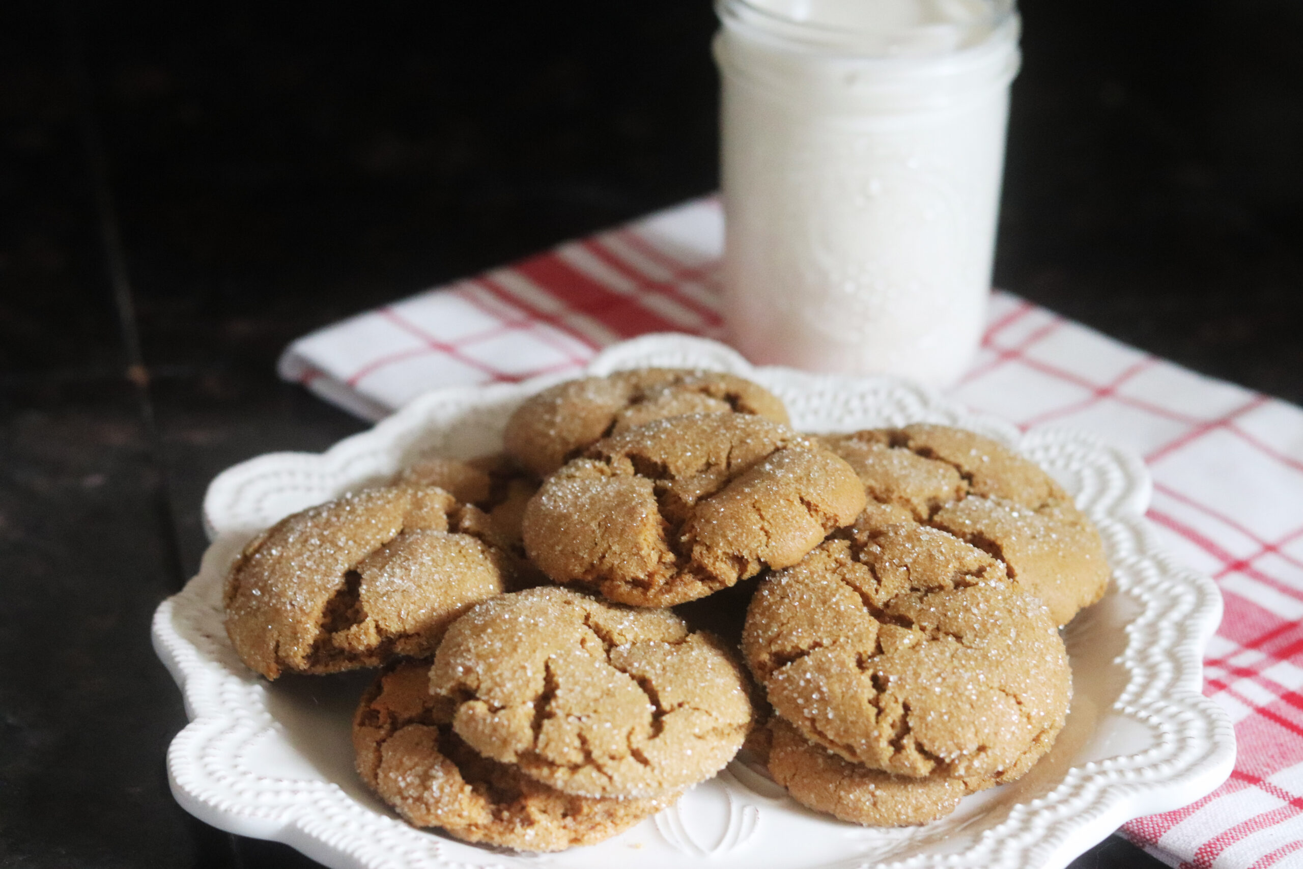 Classic Gingersnap Cookies (wheat recipe)