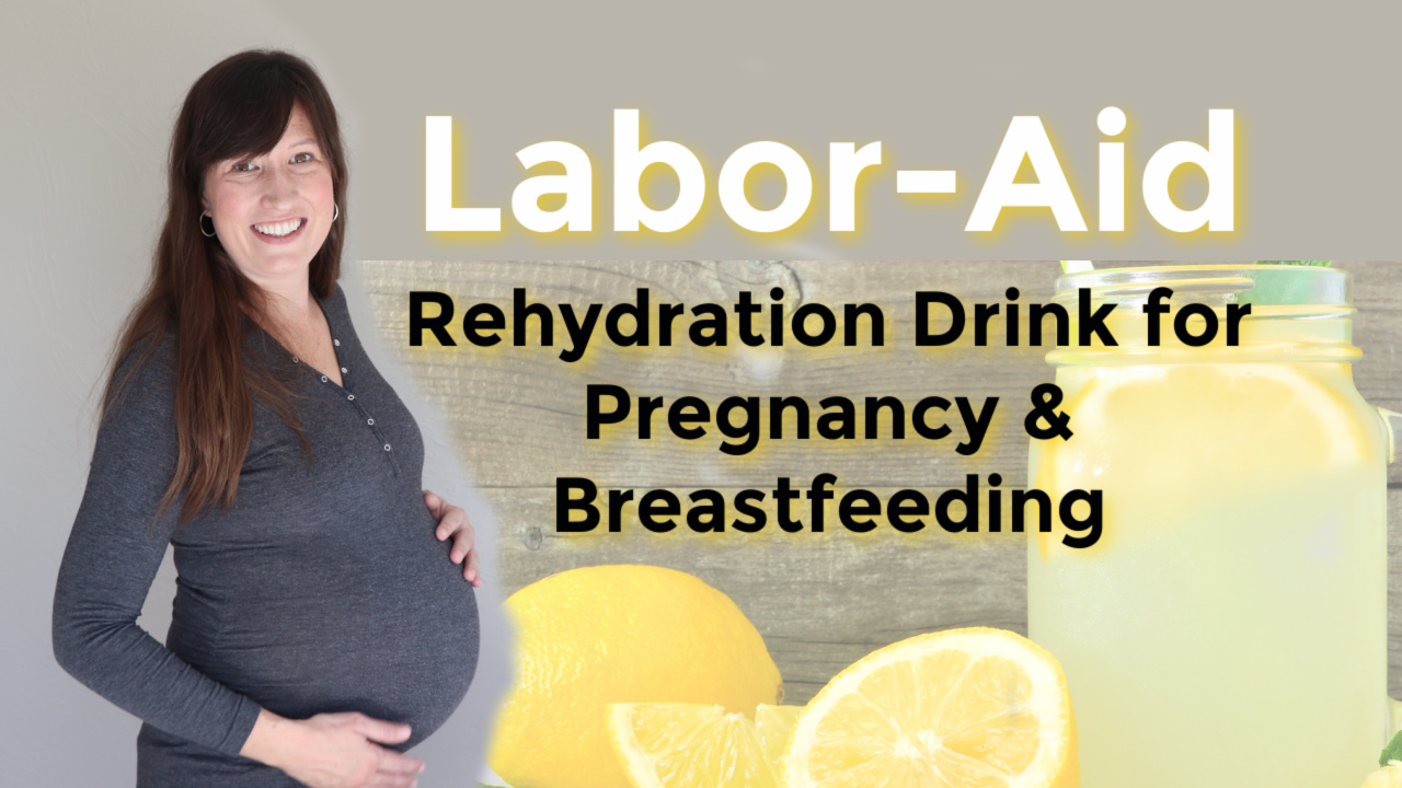 Homemade Labor-aid (lemon-flavored electrolyte drink for pregnancy and labor)